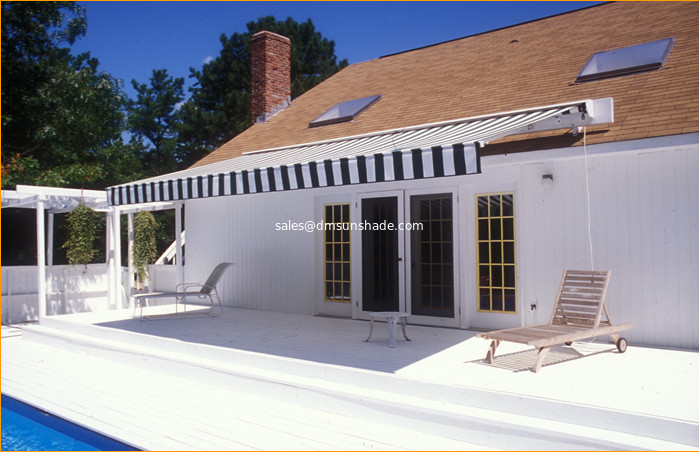 patio aluminium semi cassette awning / commercial retractable awning / high quality half cassette awning