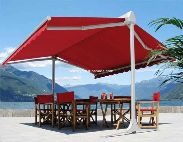 Aluminium high quality double side awning, Strong double side retractable awning, awning for two sides