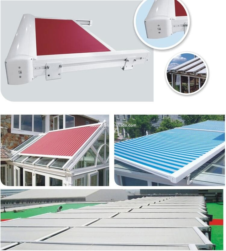 heavy duty Remote motor sunshade greenroom of  waterproof roof retractable pergola awnings